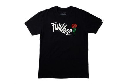 Further Shock Rose T-Shirt - Black Large